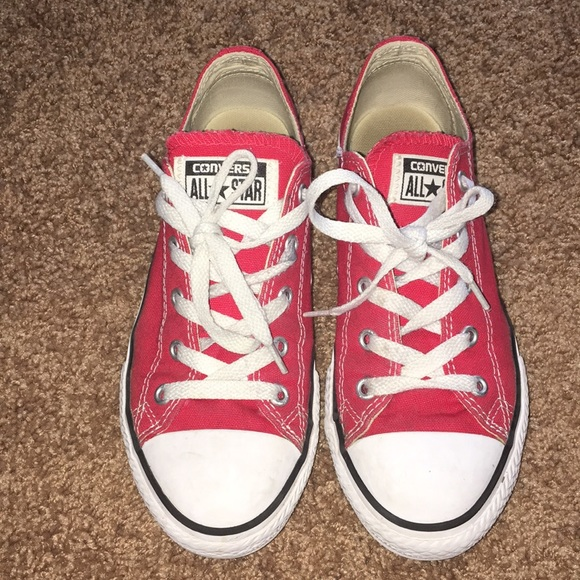 f3267e4693e1 Converse Other - Converse All Stars Chucks Size 3 Red Low Top